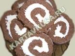 торты и пирожные - рецепты с фото | бисквитный рулет с кремом