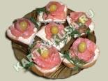 холодные закуски | бутерброды с красной рыбой - рецепт с фото