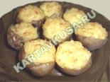 вторые овощные блюда, гарниры | картофель, фаршированный сыром - рецепт с фото