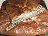 горячие закуски - рецепты c фото | кулебяка из слоеного теста с капустой