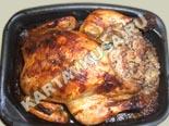 вторые блюда из курицы | урица, фаршированная гречкой - рецепт с фото