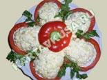 салаты из рыбы и морепродуктов | салат из кальмаров с картофелем цветок - рецепт с фото