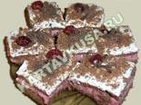 десерты и выпечка - рецепты с фото | шоколадные пирожные с вишней