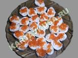 холодные закуски | яйца с кальмарами и икрой | рецепт и фото