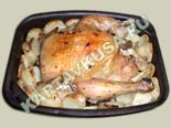 вторые блюда из курицы | запеченная курица с картошкой - рецепт с фото