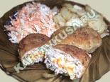 блюда из фарша | зразы из свинины с овощами - рецепт и фото
