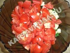 Греческий салат с жареным сыром, пошаговый рецепт с фото