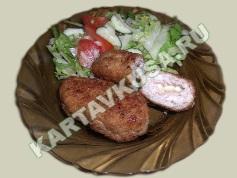 куриные котлеты, фаршированные сыром   приготовление - 9 шаг