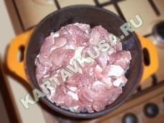 овощное рагу с мясом и картошкой | приготовление - 1 шаг