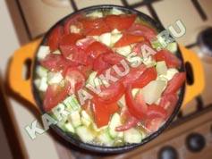 овощное рагу с мясом и картошкой | приготовление - 8 шаг
