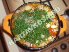 овощное рагу с мясом и картошкой | приготовление - 9 шаг