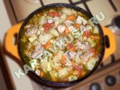 овощное рагу с мясом и картошкой | приготовление - 10 шаг