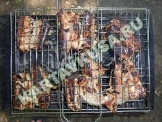 шашлык из свиных ребрышек на решетке | приготовление - 8 шаг
