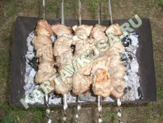 шашлык из свинины в пиве | приготовление - 9 шаг