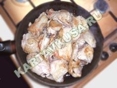 тушеная курица в сметане | приготовление - 2 шаг