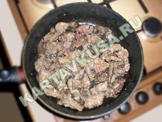 тушеная печень в сметане | приготовление - 4 шаг