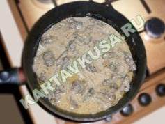тушеная печень в сметане | приготовление - 7 шаг