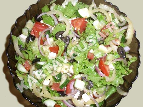 Салат греческий классический тв еда