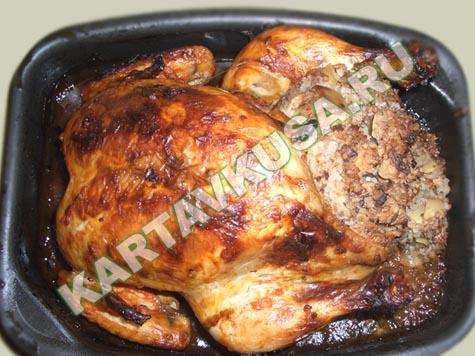 Как запечь курицу с гречкой в духовке