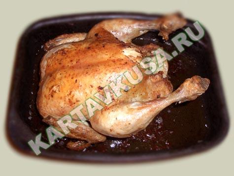 Запеченная курица в духовке целиком пошаговый рецепт с фото