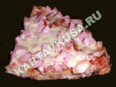 пицца на сковороде из хлеба   пошаговый фото-рецепт