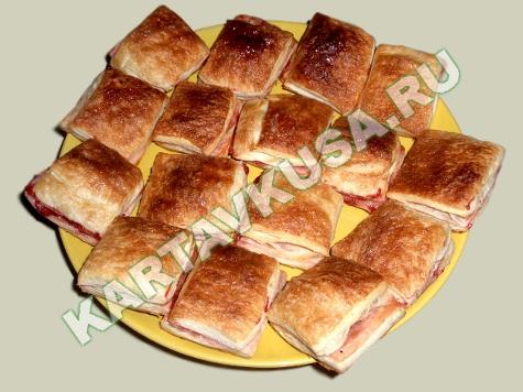 Слойки с повидлом - пошаговый рецепт с фото: как приготовить