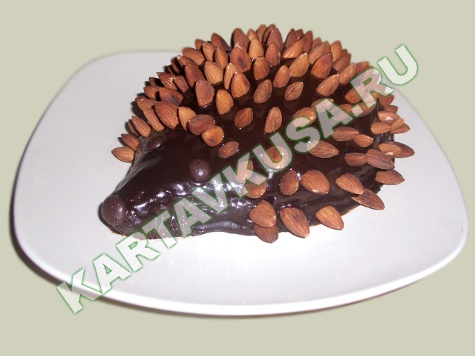 торт ежик рецепт фото иголки из миндаля
