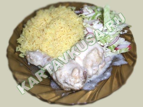 тушеная курица в сметане | пошаговый фото-рецепт