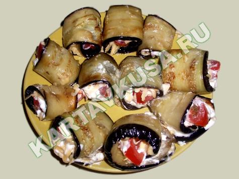 закуска из жареных баклажанов
