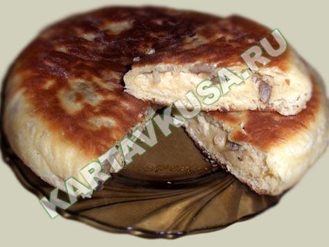 Пирог с капустой на сковороде без духовки